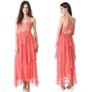 Free People Summer Breeze Dress Coral 6